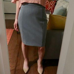 Express High-waist Pencil Skirt (in Grey & Pink)